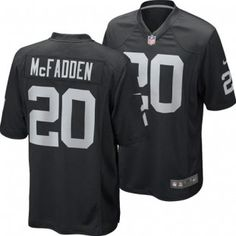 Oakland Raiders Darren McFadden  20 Juvenile Replica Game Jersey (Black) Darren  Mcfadden ec6f300f7