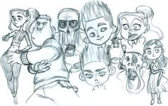 So I doodled these at work over the past few months...I'm not quite sure if it's a good thing that so many of them are angry. XD Yes they are lacking noses and yes, some are kind of rep...