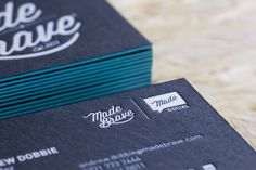 The 34 best business cards inspiration images on pinterest black white and teal matte quadplex business cards for madebrave creative agency glasgow reheart Choice Image