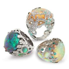 Mathon Paris Opal Rings with Paraiba Tourmalines Mathon Paris copyright