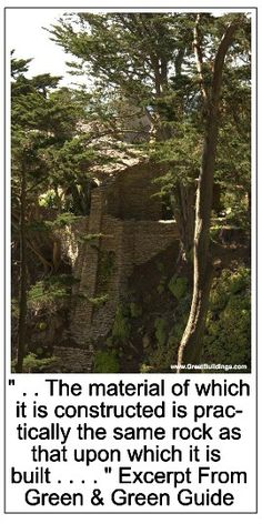 "The stone structure seems to have grown out of its site atop the rocky cliffs.  It is difficult at some places to "" . . . ascertain just where nature's rock has ended and man's masonry genius has begun,"""