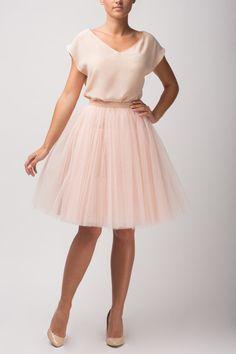 champagne tulle skirt Handmade tutu skirt High by Fanfaronada