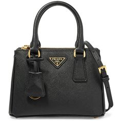 Prada Galleria baby textured-leather tote (20,235 MXN) ❤ liked on Polyvore featuring bags and handbag's  Diese und weitere Taschen auf www.designertaschen-shops.de entdecken