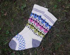 Wool socks  Happy Sheep Warm knit socks Winter socks Gift socks Women knit wool socks Winter Socks, Warm Socks, Knit Socks, Knitting Socks, Womens Wool Socks, Sheep Wool, Leg Warmers, Black And Grey, Happy