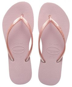 45ed9fc24a2be6 Keep your feet cozy and comfortable with the best flip flops! Havaianas Slim  Metallic Rose
