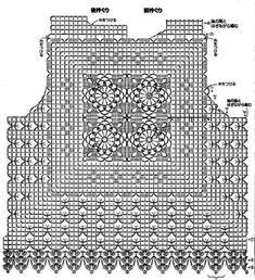 Crochet T Shirts, Crochet Cardigan, Crochet Clothes, Crochet Diagram, Filet Crochet, Irish Crochet, Crochet Bear, Thread Crochet, Knit Crochet