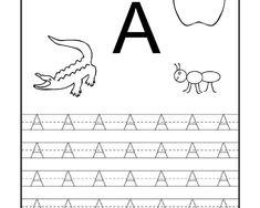 Nauka pisania – litery od A do M