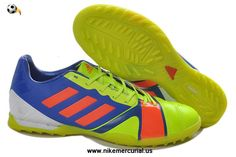 the latest a595d 30fbe Authentic Adidas Nitrocharge 3.0 TRX TF Fluorescent Green Blue Red Cleats  Cheap Soccer Cleats, Football