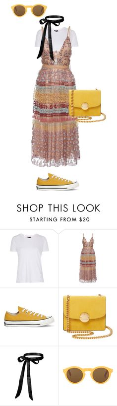 """Mustard"" by fauxxxfur ❤ liked on Polyvore featuring Topshop, Valentino, Converse, Marc Jacobs and CÉLINE"