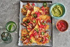 Tortilla Chips, Nachos, Bruschetta, Cheddar, Vegetable Pizza, Guacamole, Vegetables, Ethnic Recipes, Food