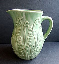 Green Pottery Pitcher