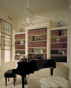 Notice moulding detail over center bookcase.  Federal style?  Trisha Troutz: Ferguson & Shamamian Part II