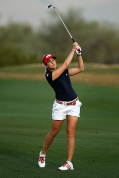 Paula Creamer has moments of all American style on the course that I love.