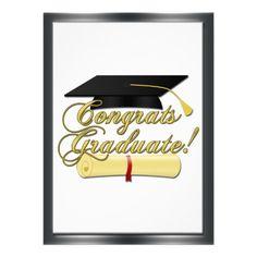 Graduation gift Congrats Graduate Diploma and Graduation hat Custom Invitations by PLdesign $1.90