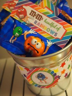 Favors at a M&M Party #m&m #partyfavors