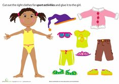 Printable Paper Doll Dress Up Party | Education.com