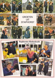 Vintage Costume Postcards  Staphorst  #Overijssel #Staphorst