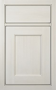 Madison Recessed door style by #WoodMode, shown in Classic Opaque Vintage White on maple.