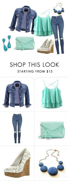 """outfit 10"" by vicinogiovanna ❤ liked on Polyvore featuring maurices, Topshop, Apt. 9, Tiffany & Co., StreetStyle, denim, Dailylook, DenimStyle and spring2016"