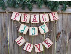 Christmas Banner Holiday Decor Rustic Photo Prop Christmas Banner Decor. $24.95, via Etsy.