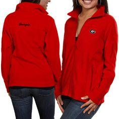 Columbia Georgia Bulldogs Ladies Logo Give & Go Fleece Jacket - Red