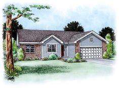 Traditional   House Plan 66618