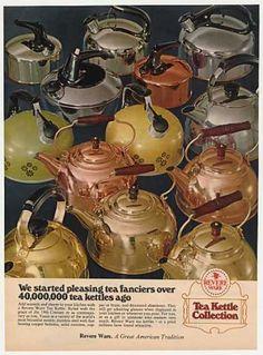 Revere Ware Tea Kettle Collection Photo (1972)