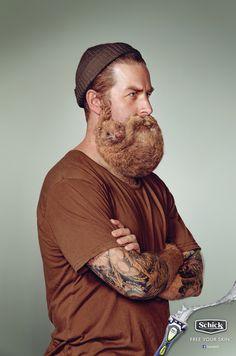 #FreeYourSkin la campagna della Schick (marca di rasoi) lanciata in Nuova Zelanda per liberare i visi dalle barbe!