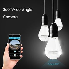 High Definition Night Vision Bulb Camera w/WiFi Tiny Camera, Hidden Spy Camera, Iphone Gadgets, Spy Gadgets, Spy Tools, Android Camera, Nanny Cam, Best Android