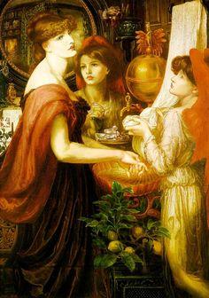 La Bella Mano. Dante Gabriel Rossetti  1875.  Sogni d'oro <3