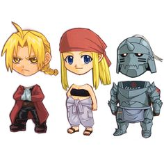 Mix and Match Magnets Ed Al Winry Fullmetal by cosplayscramble, $12.00