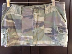 Abercrombie and Fitch Camo Army Cargo Micro Mini Skirt.