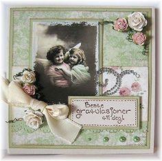 Kreativ Hobby: Anne Bente - Gratulasjonskort med vintagebilder