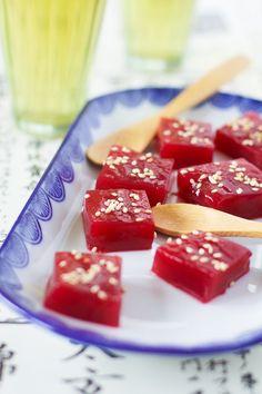 """Un """"Flo"""" de bonnes choses » Gelée de cerises à la coréenne – Aengdu p'yòn"""