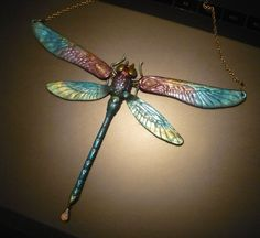 Spectral Dragonfly - Necklace by Ganjamira.deviantart.com on @DeviantArt