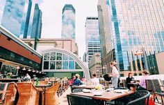 Rooftop dining in Minneapolis, MN