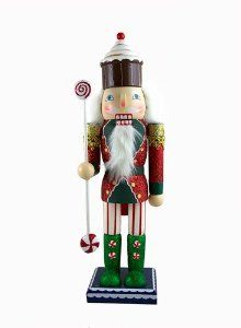 "14"" Cupcake Heaven Peppermint Candy King Glittered Christmas Nutcracker by CC Christmas Decor. $24.99. From the Cupcake Heaven CollectionItem #11009Cupcake king nutcracker holds a peppermint candy scepter and is embellished with sparkling glitterStands on a sturdy, square baseFor decorative purposes onlyDimensions: 14""H x 4.5""W x 3.5""DMaterial(s): wood/polyester"