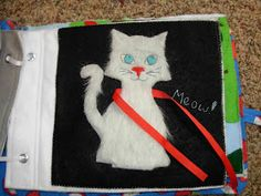 Cat quiet book page