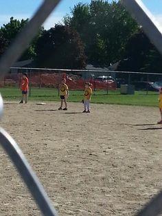 Denver Watertower Ball Fields in Denver, IA playing softball just my sport!!