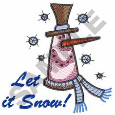 LET IT SNOW! Embroidery Design | AnnTheGran