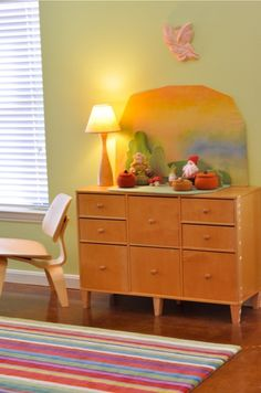 "Would love a dresser like this to use as our ""nature table"". We could store the different pieces in the drawers..."