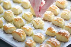 Two Ingredient Dough Pretzel Bites are EASY to make. No yeast and no waiting for dough to rise. Just mix dough, cut, dip in baking soda water and bake! Appetizer Recipes, Snack Recipes, Dessert Recipes, Appetizers, Desserts, Ww Recipes, Cookie Recipes, Pretzels Recipe, Homemade Pretzels