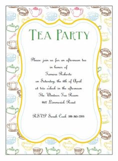 Free blank tea party printable free printables pinterest tea printable tea party invitations stopboris Choice Image