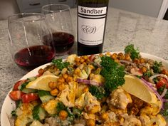 Erie Shore Vineyard 2016 Sandbar Reserve with Cauliflower Shawarma Buddha Bowl. Shawarma Spices, Persian Cucumber, Essex County, Tahini Dressing, Roasted Meat, Complete Recipe, Buddha Bowl, Vanilla Flavoring