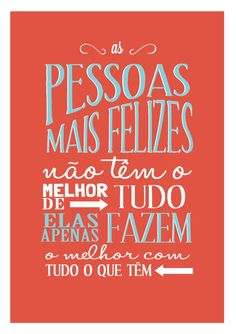 Poster Frase As pessoas mais felizes - Decor10