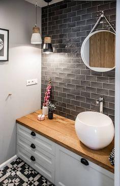Contemporary apartment by Shoko Design 38 Wood Railing, Family Apartment, Scandinavian Interior Design, Design Interior, European Home Decor, Contemporary Apartment, Laundry In Bathroom, Bathroom Inspiration, Bathroom Ideas