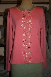 Vintage buttons, thrift store sweater.  All Buttoned Up, and one of a kind!  I have several available...and lot more in my to do pile!