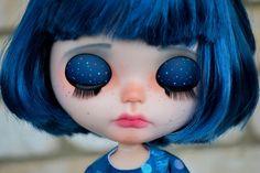 OOAK Custom Factory Blythe Doll With Short Dark by MissFreyaJ
