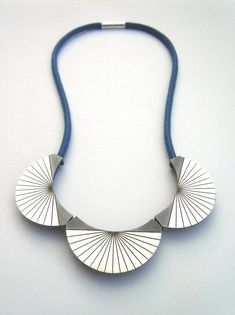 Oxydised silver and Japanese cord necklace from Oxx Jewellery
