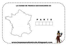 Fichas proyecto la vuelta al mundo France, Chart, England, Diy, School, La Vuelta, Countries Of The World, Jules Verne, Happy Friday
